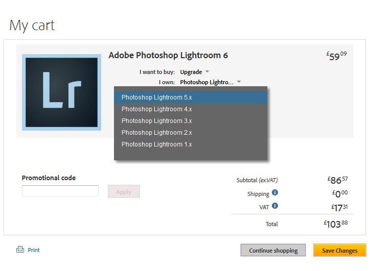 adobe lightroom 5 upgrade download