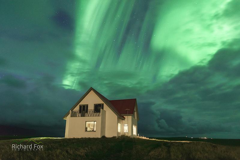 Iceland KP 4 aurora overhead