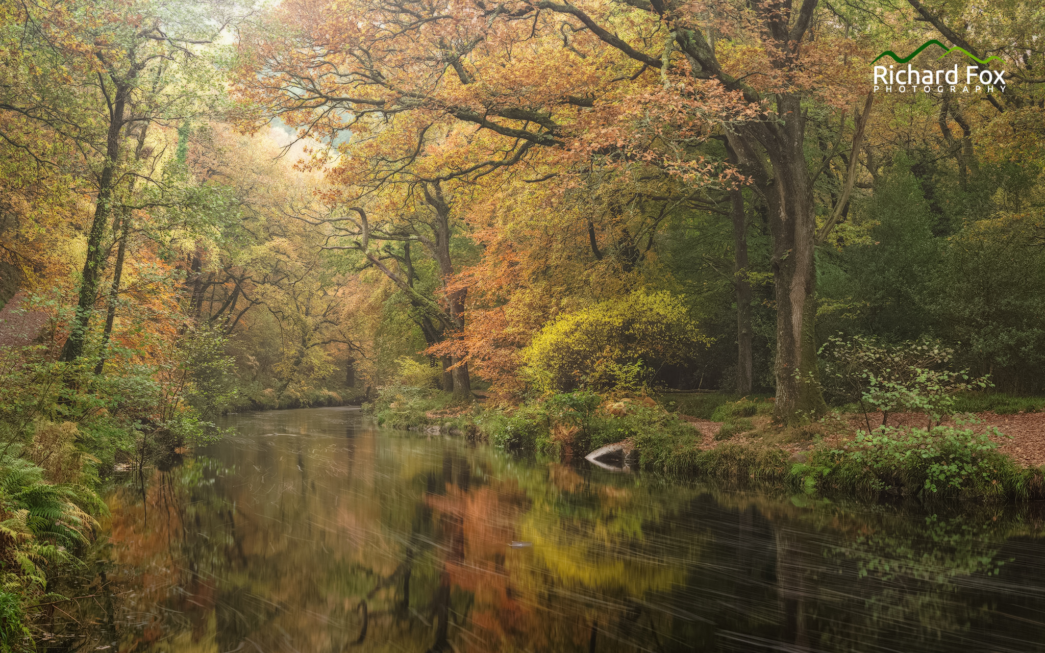 Teign Colourings, River Teign at Fingle Bridge - A well shot location but with my own style.