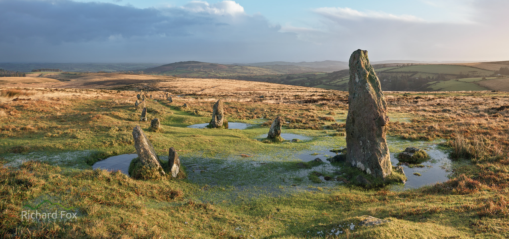Line of the Storm - Hurston ridge stone row, Dartmoor