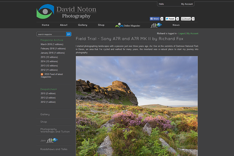 David Noton's Chasing the Light Magazine - Field Trial - Sony A7R and A7R MK II