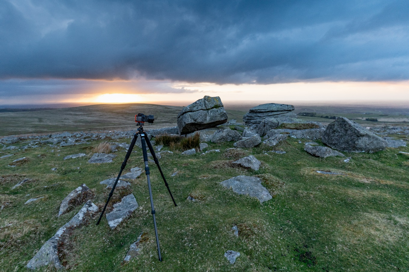 Rowtor, Dartmoor at sunset